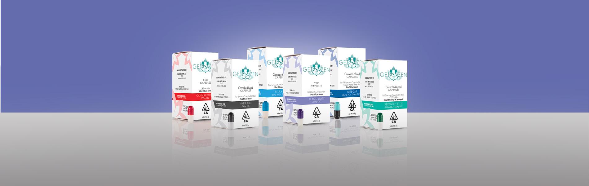 get zen medicinal cannabis capsules group image